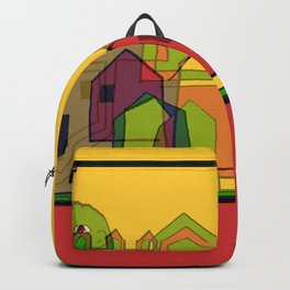 Two Suns Above the Village Backpack