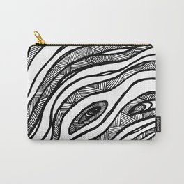 Organic Black & White lines Carry-All Pouch