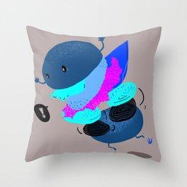 Falling Burger Throw Pillow