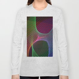Rainbow lines and patterns Light Painting Long Sleeve T-shirt