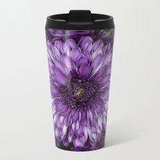 Purple Mums Metal Travel Mug