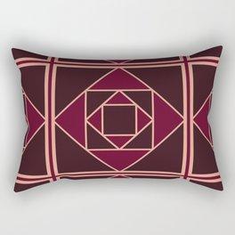Art Deco Pattern Red Brown Gold Rectangular Pillow
