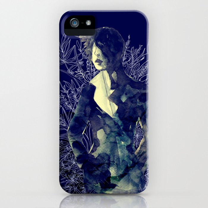 Shadow-man in conscious flowering ornament   iPhone Case
