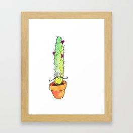 Hey Cactus! Framed Art Print