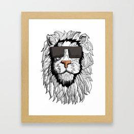 Lion Illustrative  Framed Art Print