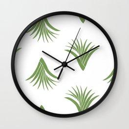 Pandanus Leaf Pattern - Green Wall Clock
