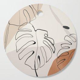 Minimal Abstract Art- Monstera Cutting Board