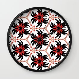 Frantic from the Black & White & Red All Over Collection Wall Clock