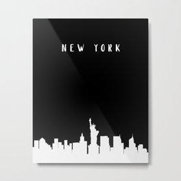 N E W Y O R K Metal Print