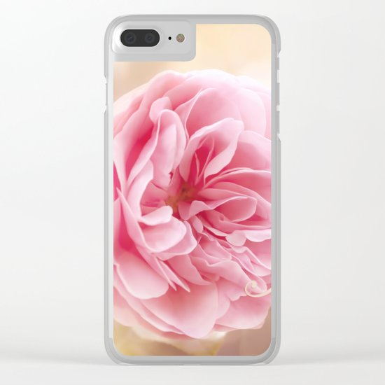 The beginning of something amazing . Roses- Rose Typography Clear iPhone Case