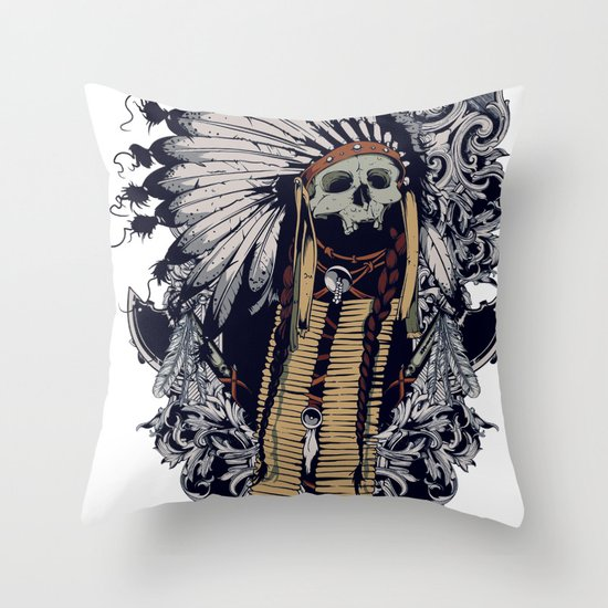 Indian soul Throw Pillow