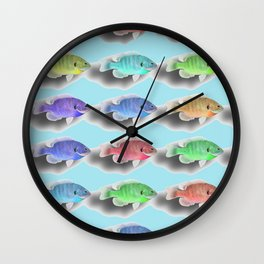 Swimming Fishies Wall Clock
