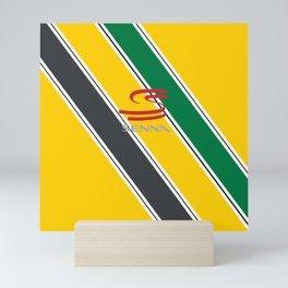Ayrton Senna Stripes Logo Mini Art Print