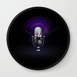 mic Wall Clock