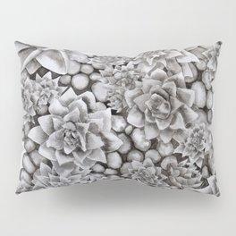 Watercolour pebbles and succulents Pillow Sham