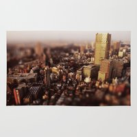 tokyo Area & Throw Rugs featuring Tokyo by Sushibird