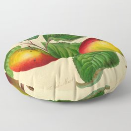 The Red Must Apple (1811) Floor Pillow