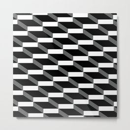 3d wall of cubes and shadows Metal Print
