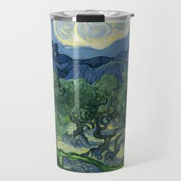 """Vincent van Gogh """"Olive Trees with the Alpilles in the Background"""" Travel Mug"""