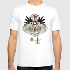 Death Mask 2 White Mens Fitted Tee MEDIUM