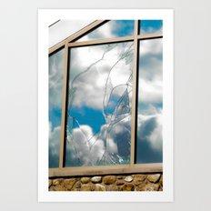 Smashed Glass Art Print