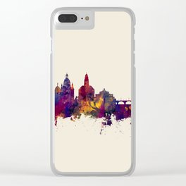 Dresden Germany Skyline Clear iPhone Case