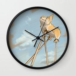 Corgi Dreams Wall Clock