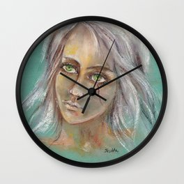 Fan art Witcher III - Cirilla Fiona Elen Riannon Wall Clock