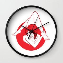 Cross Legged Wall Clock