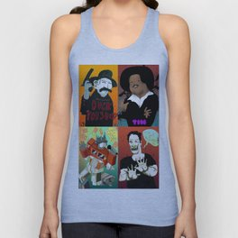 Pop mix of the some of the greats pop culture memories.  Unisex Tank Top