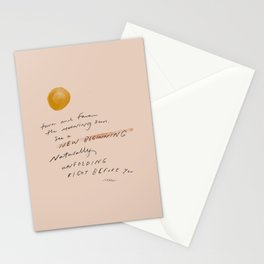 """""""Turn And Face The Morning Sun. See A New Beginning Naturally Unfolding Right Before You."""" Stationery Cards"""