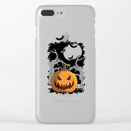 Funny pumpkin disguise Halloween outfit for costume party Clear iPhone Case