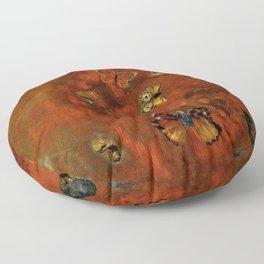 """Odilon Redon """"Evocation of butterflies"""" Floor Pillow"""