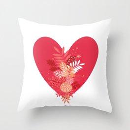 Feelings (Pink) Throw Pillow
