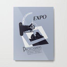 Retro photography expo Metal Print