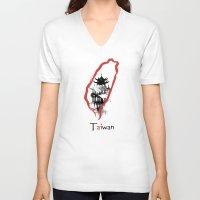subaru V-neck T-shirts featuring Taiwan, Taipei by viva la revolucion