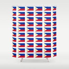 Flag of Philippines -Pilipinas,Filipinas,filipino,pinoy,pinay,Manila,Quezon Shower Curtain