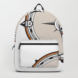 Vintage Compass Icon Backpack