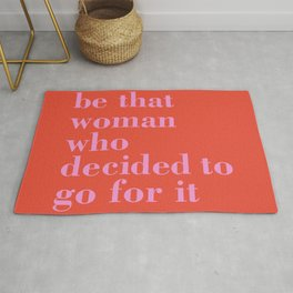 be that woman Rug