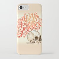 hamlet iPhone & iPod Cases featuring Hamlet Skull by Rachel Caldwell