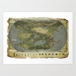 Map of Rendaraia Art Print