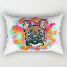 French Bulldog Frenchie Explosion Rectangular Pillow