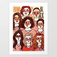 oitnb Art Prints featuring OITNB by Luiza Abend