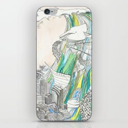 Whale Tital Wave iPhone Skin
