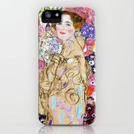 "Gustav Klimt ""Portrait of Maria Munk (unfinished)"" iPhone Case"