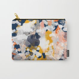 Stella II - Abstract painting in modern fresh colors navy, orange, pink, cream, white, and gold Carry-All Pouch