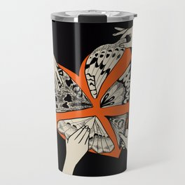 Appliqué Butterfly Wing Heart Travel Mug