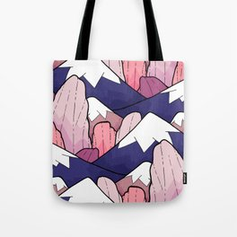 The deep coloured peaks Tote Bag