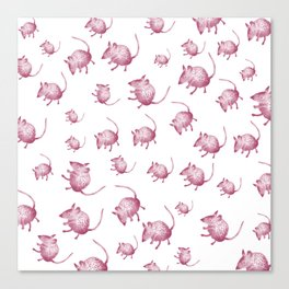 Pink Mouses Canvas Print