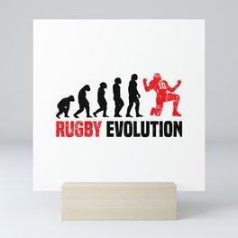 Rugby Evolution T Shirt Rugby Coach TShirt Rugby Team Shirt Evolution-Look Gift Idea Mini Art Print